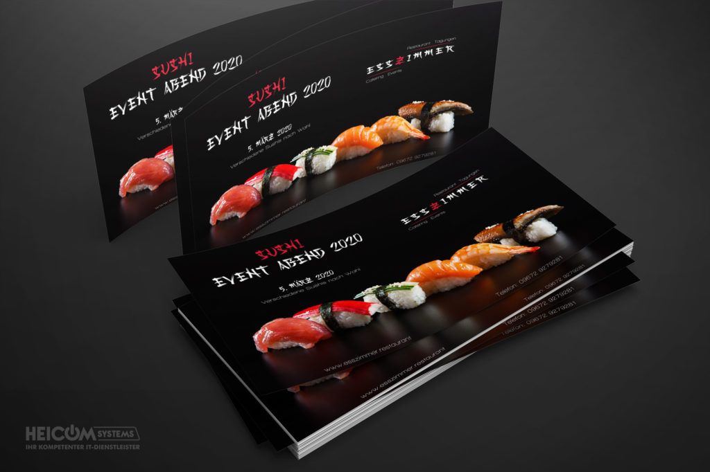 heicom-systems-flyerdesign-agentur-werbung-restaurant-esszimmer-sushi